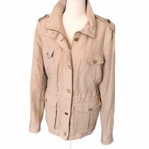 Tory Burch | sacher linen jacket Sz XL